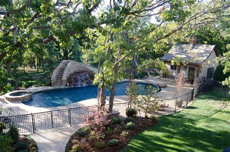 hill country style traditional pool oklahoma - Country Style Pools