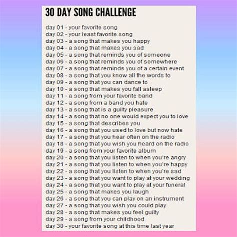 day song 8tracks radio 30 day challenge 28 songs free