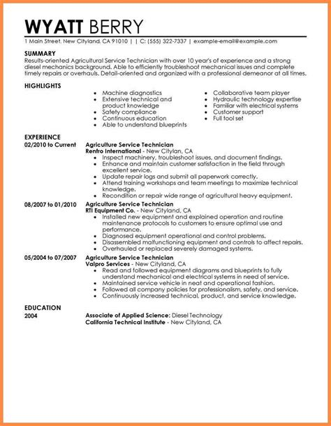 best resume template resume badak best diesel mechanic