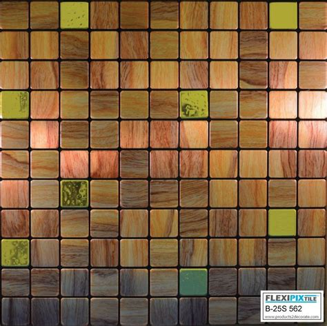 kitchen backsplash stick on tiles flexipixtile aluminum peel stick mosaic tile kitchen backsplash bath woodie ebay