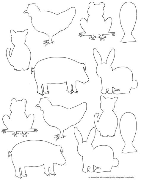 animal templates animal shapes to cut out coloring home