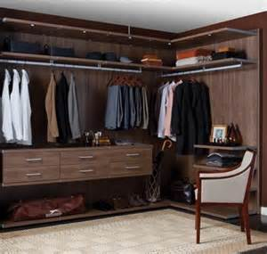 virtuoso closet in walnut from california closets