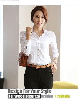 Top Kemeja Putih Fashion Casual Wanita Bagus Murah kemeja wanita putih polos jual model terbaru murah