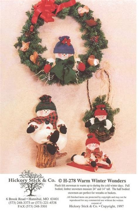 craft sewing pattern christmas decorations xmas holiday w