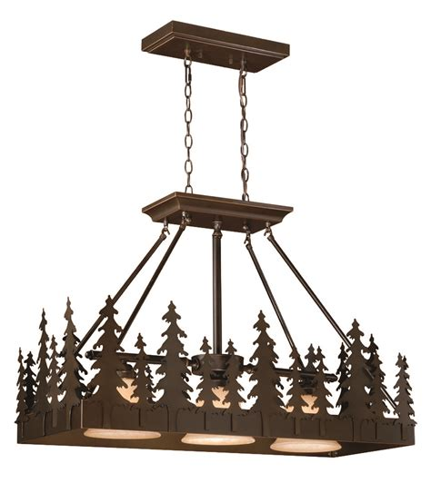 Country Light Fixtures Vaxcel Pd55536bbz Yosemite Country Burnished Bronze Finish 25 Quot Kitchen Island Light Fixture