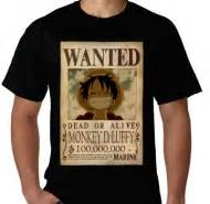 Kaos Wanted Monkey D Luffy Oa23 Oblong Distro kaos premium toko kaos jual kaos distro