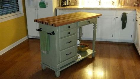 repurposed desk with butcher block top weekend projects