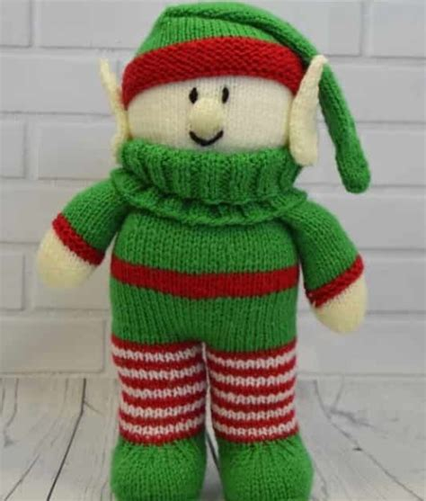 knitting pattern christmas elf festive friends elf knitting pattern knitting by post