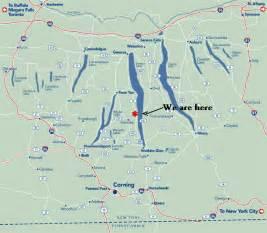 Finger Lakes New York Map by Bilen Utmerket Mekanisme August 2016