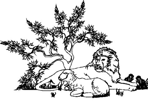 Bible Coloring Pages Lion And Lamb | bible puzzle