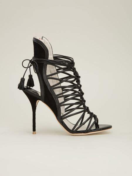 webster gladiator sandals webster gladiator stiletto sandal in black lyst