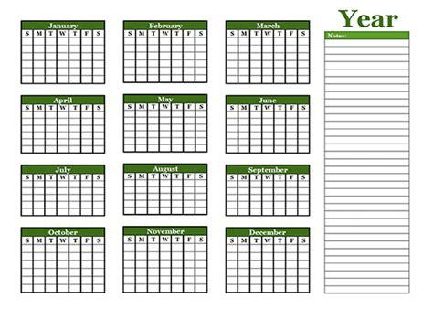 yearly blank calendar  holidays  printable templates