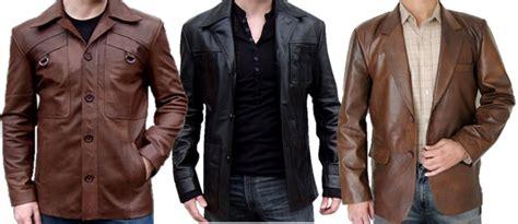Jaket Kulit Casual Merah jaket kulit pria model terbaru keren casual klasik 100
