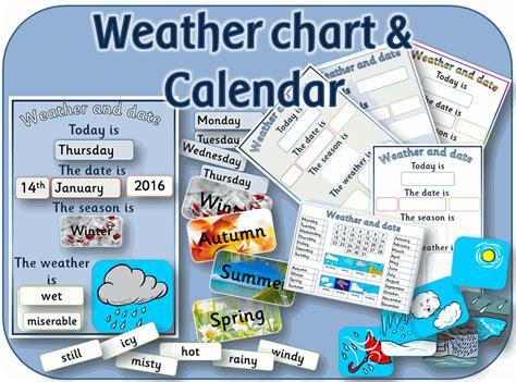 printable calendar ks1 weather chart and daily calendar for eyfs ks1 by