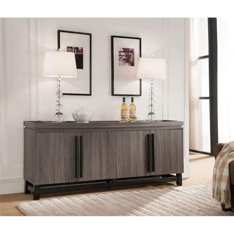 Gray Buffet Table Furniture Of America Dalton Buffet Table In Dark Gray