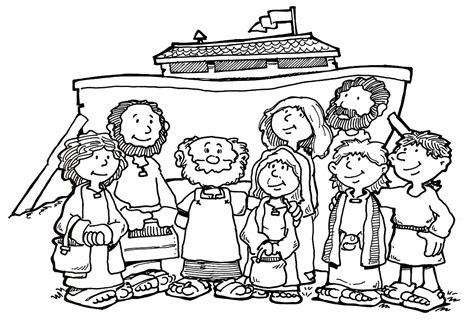 noah s family coloring page search
