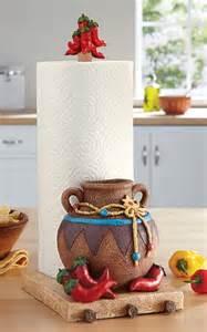 chili pepper paper towel holder southwest kitchen paper towel holder