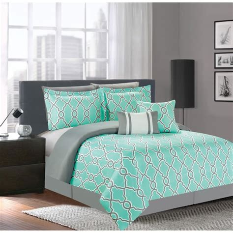 Teal Comforter Sets by Teal 7 Comforter Set 17351354 Overstock