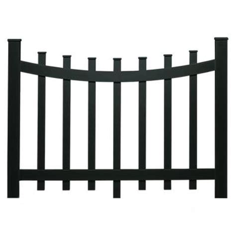 White Plastic Trellis Panels 37 50 In Black Vinyl Scallop Accent Garden Fence