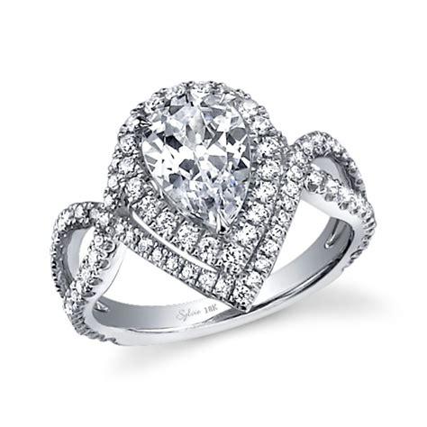 unique halo pear shape engagement ring