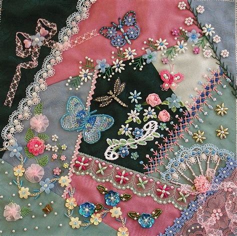Patchwork Embroidery Stitches - 411 best images about quilting beading embroidery