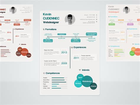 infographic resume psd by kevin cdnc dribbble