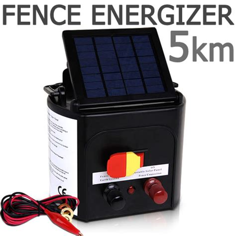 best solar electric fence charger solar power electric fence energiser charger 5km buy