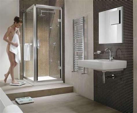 Ideas For Remodeling A Small Bathroom by Hydr8 Square Shower Enclosure With Hinged Door Twyford