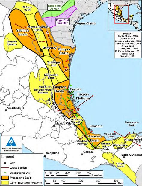 eastern mexico map mexico major non opec producer