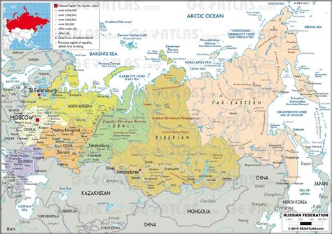 states of russia map images map pictures