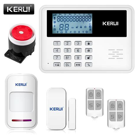 wired house alarm systems kerui 5900g gsm alarm system wireless wired alarm systems