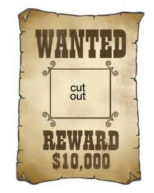 wanted poster template free printable cowboy cutouts martha stewart