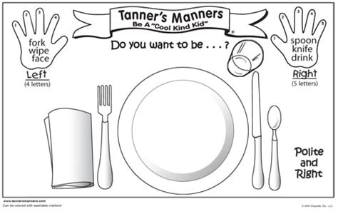 manners coloring pages preschool preschool placemat set for good manners yelp