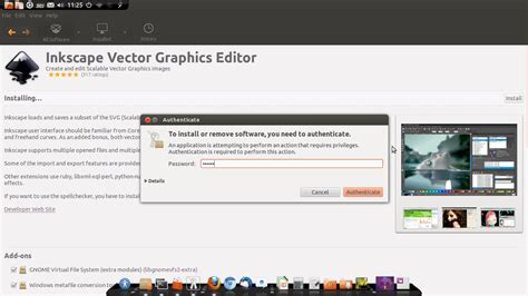 membuat video tutorial di linux tutorial menginstal software aplikasi inkscpae di linux