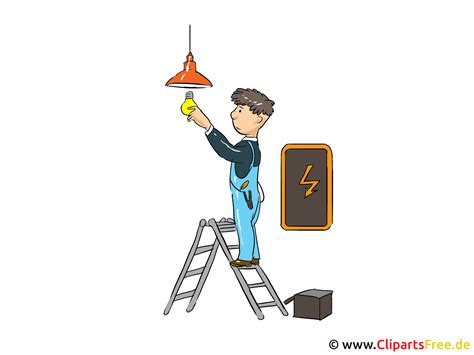 elektriker bild cartoon clipart grafik