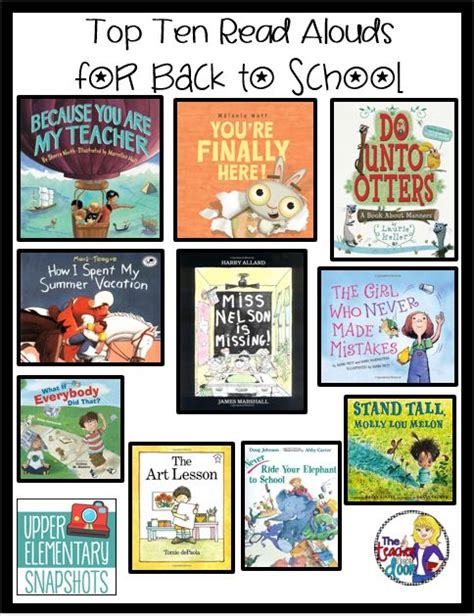 read aloud picture books for 4th grade top ten read alouds for back to school a well day