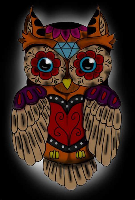 Sugar Skull Owl 1 Skull Sugar Owl Pixel Xl sugar skull owl by alienbuddhaartwork on deviantart
