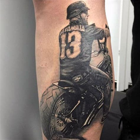 70 biker tattoos for manly motorcycle ink design