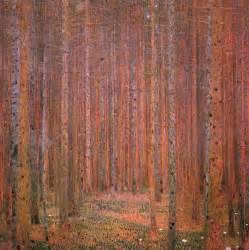 Tree Of Life Shower Curtain Fir Forest I 1901 Gustav Klimt Wikiart Org