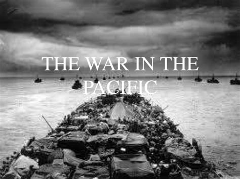 in the the war in the pacific