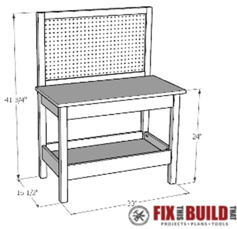 child bench plans how to make a diy kids workbench fixthisbuildthat