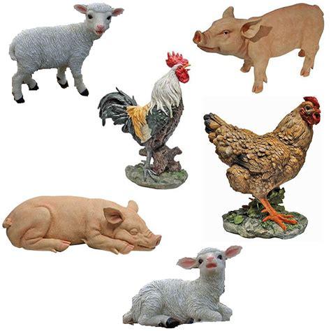 animal ornaments toscano farm animals quality painted garden ornament