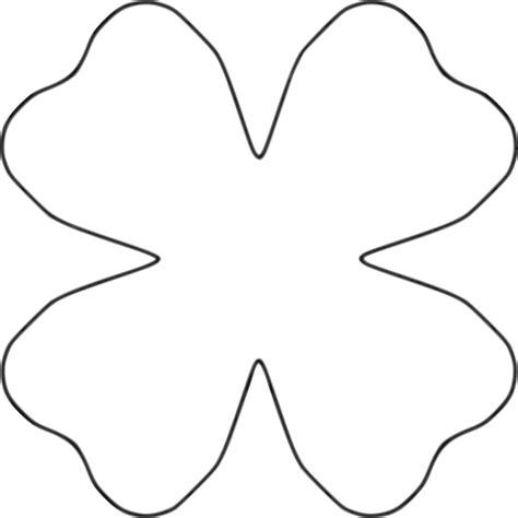 clipart flower 4 petal heart template
