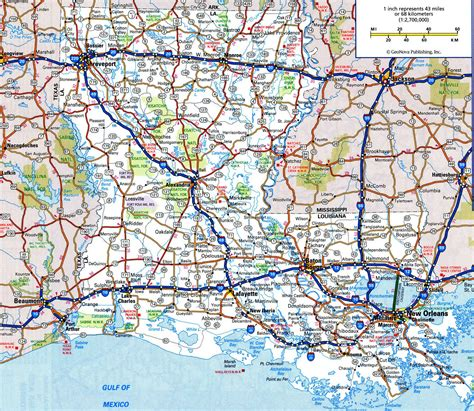 printable road atlas maps louisiana atlas map my blog