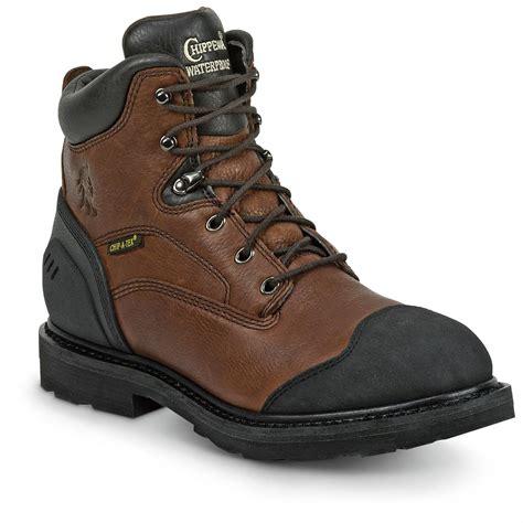 chippewa mens work boots chippewa s 6 quot heavy duty waterproof work boots