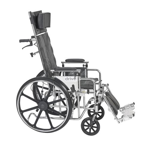 drive reclining wheelchair drive medical deluxe sentra full reclining wheelchair