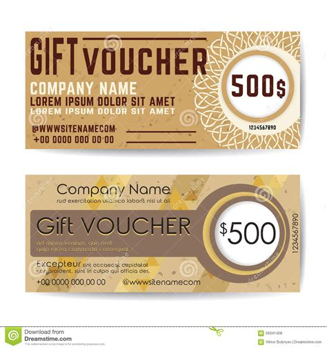 Coffee Discount Coupon Or Gift Voucher Vector Template Vector Illustration Cartoondealer Com Coffee Shop Gift Certificate Template