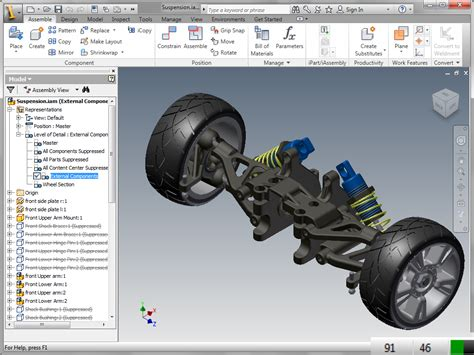 how and when to use autodesk inventor lod rep s for