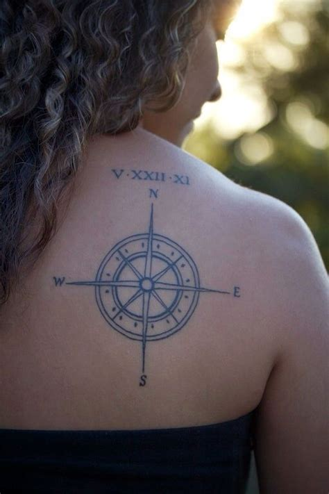 anniversary date tattoos compass with anniversary date in numerals