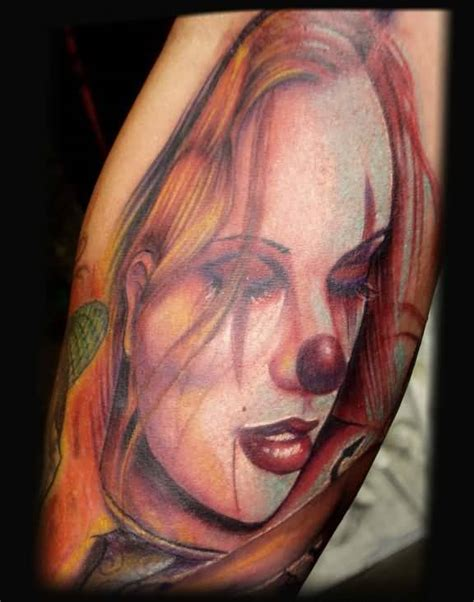 girl joker tattoo designs clown girl tattoo ideas and clown girl tattoo designs